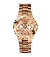 Guess Rose Goldtone Active Shine Watch