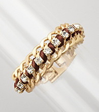 Erica Lyons® Goldtone/Brown Chain Bracelet