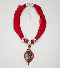 Erica Lyons® Red Short Scarf Necklace