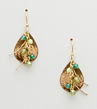 Silver Forest® Green Drop Earrings