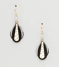 Silver Forest® Black & White Dot Earrings