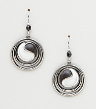 Silver Forest® Black & White Ying & Yang Earrings
