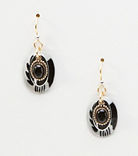 Silver Forest® Black & White Shell Earrings