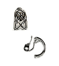 Napier® Silvertone C Hoop Clip Earrings