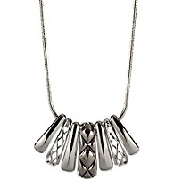 Napier® Silvertone Frontal Necklace