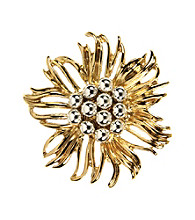 Napier® Boxed Silver/Gold Brooch Pin