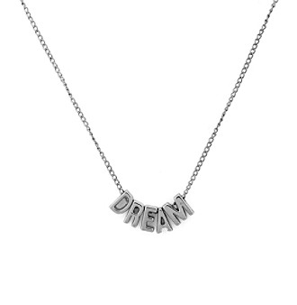 BCBGeneration™ Silvertone Dream Mini Affirmation Necklace