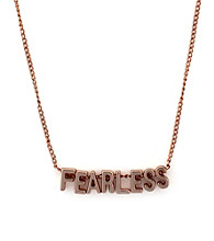 BCBGeneration™ Rose Goldtone Fearless Mini Affirmation Necklace
