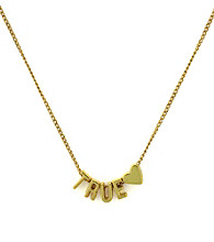 BCBGeneration™ Goldtone True Love Mini Affirmation Necklace