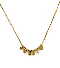 BCBGeneration™ Goldtone Sweet Mini Affirmation Necklace
