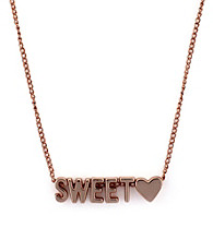 BCBGeneration™ Rose Goldtone Sweetheart Mini Affirmation Necklace