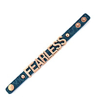BCBGeneration™ Rose Gold Fearless Croco Affirmation Bracelet