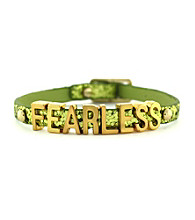 BCBGeneration™ Goldtone Fearless Mini Affirmation Bracelet