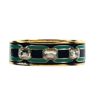 Anne Klein® Goldtone Enamel Bangle Bracelet
