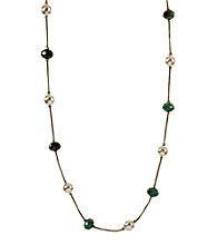 Anne Klein® Goldtone Turquoise Illusion Necklace