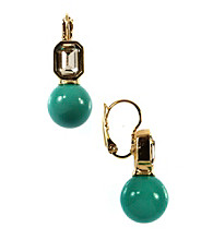 Anne Klein® Goldtone Turquoise Drop Earrings