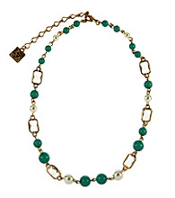 Anne Klein® Goldtone Turquoise Collar Necklace