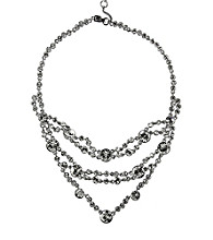 Givenchy® Silvertone Drama Necklace