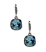 Givenchy® Silvertone/Blue Drop Earrings