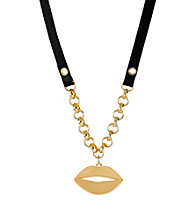 Betsey Johnson® Goldtone Lip Pendant Necklace