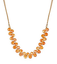 Kenneth Cole® Orange Faceted Bead Frontal Necklace