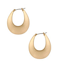 Kenneth Cole® Goldtone Sculptural Oval Hoop Earrings