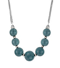 Kenneth Cole® Blue Round Bead Frontal Necklace