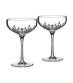 Waterford® Lismore Essence Set of 2 Saucer Champagne Flute
