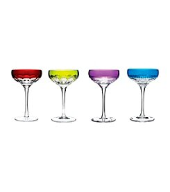 Waterford® Mixed Color Coupe Glasses