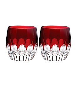 Waterford® Talon Red Set of 2 Double Old Fashioned Glasses