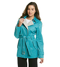 Gallery® Belted Colorblock Trench Coat