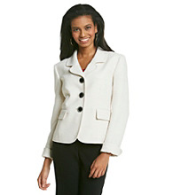 Kasper® Plus Size Tweed Jacket With Round Notch Collar