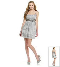 Morgan and Co.® Juniors' Silver Glitter Party Dress
