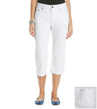 Relativity® White Denim Capri