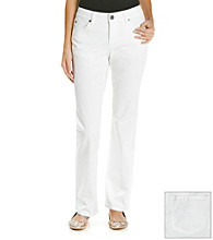 Relativity® Straight Leg White Jean