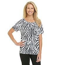 Cathy Daniels® Scoopneck Printed Knit Top