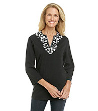 Cathy Daniels® V-Notch Neckline Tunic Top
