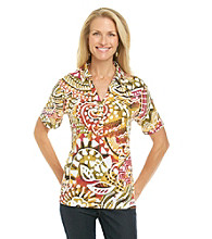 Cathy Daniels® Printed Polo Shirt