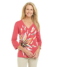 Breckenridge® Flower Surplice Knit Tee