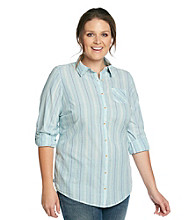 Ruff Hewn Plus Size Buttondown Collared Shirt