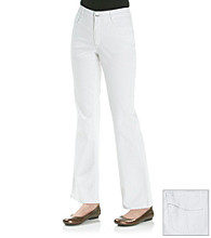 Laura Ashley® Petites' White Bootcut Jean