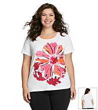 Laura Ashley® Plus Size Dahlia Print Tee