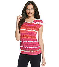 Laura Ashley® Watercolor Stripe Dolman Sleeve Top