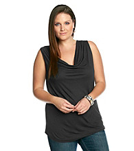 DKNY JEANS® Plus Size Cowlneck Top