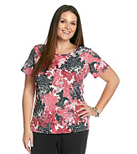 Notations® Plus Size Printed Top