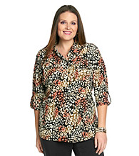 Notations® Plus Size Printed Shirt