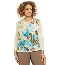 Alfred Dunner® Plus Size Textured Sweater