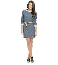Kensie® Belted French Terry Dress