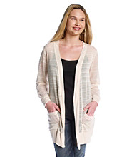 Eyeshadow® Juniors' Plus Size Open Front Knit Boyfriend Cardigan
