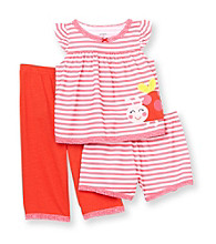 Carter's® Girls' 12M-4T Red/Pink Striped 3-pc. Ladybug Pajama Set